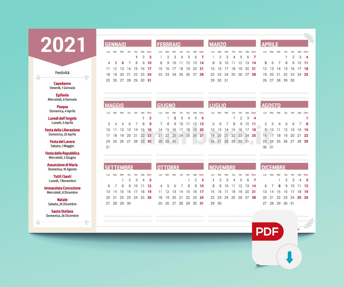 Calendari 2021 stampabili nel 2020 | Calendario, Planner, Stampe