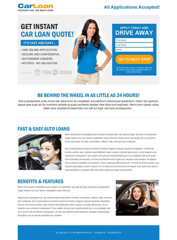 Lead generation landing page design templates example to capture ...