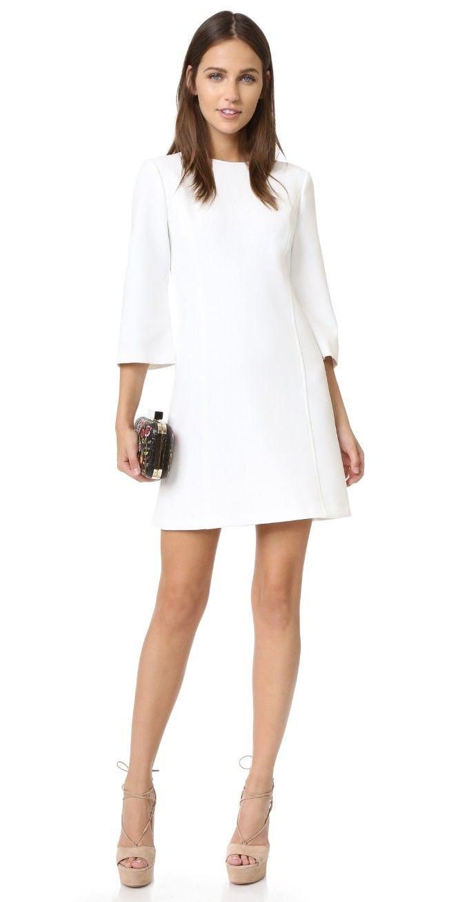 Alice Olivia Gem 3 4 Sleeve Shift Dress Casual Cocktail Dress Coctail Dresses Cocktail Dresses With Sleeves [ 1307 x 664 Pixel ]