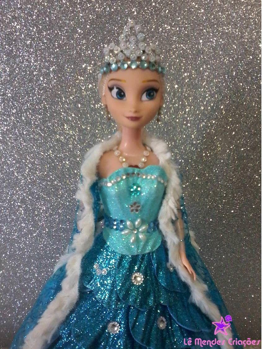 52a2e27a64 BONECAS ANNA e ELSA - FROZEN VESTIDO E.V.A COM GLITTER e aplicação de  STRASS   VALOR POR DUAS BONECAS !!!! também feitas por encomendas princesas  disney