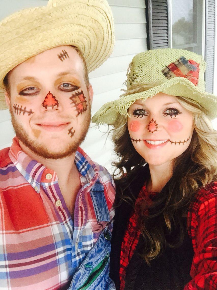 Scarecrow couple Halloween Pinterest Disfraz espantapajaros