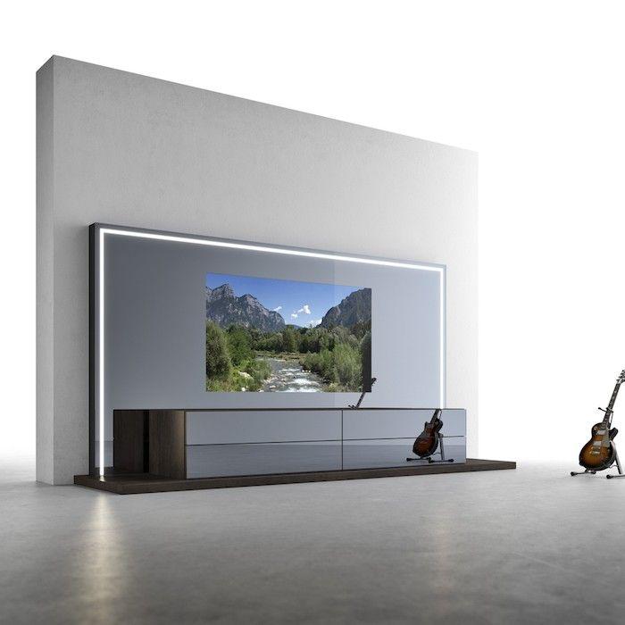 Lowboard Wohnzimmer TV Wand Kinosalon | Möbeldesign | Pinterest