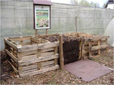 composteur en palettes jardin pinterest composteurs le compostage et palette. Black Bedroom Furniture Sets. Home Design Ideas