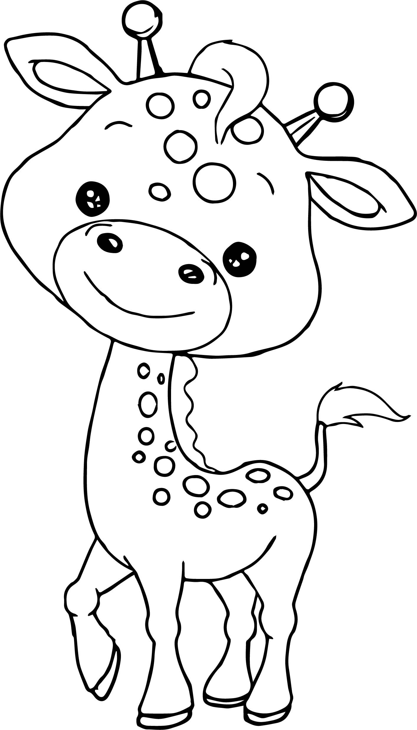 Awesome Baby Jungle Free Animal Coloring Page
