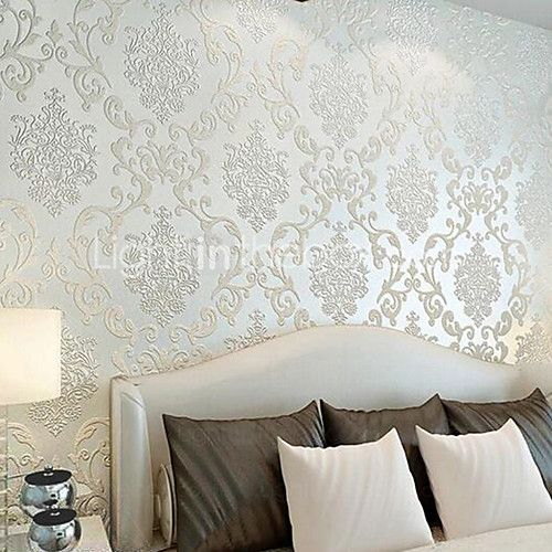 Non Woven Paper Material Adhesive Required Wallpaper Art Deco Home Decoration Classical Wall Covering Room Wallcovering 1000 55cm 2021 Us 33 59 Art Deco Home Paper Wall Art Grey Textured Wallpaper