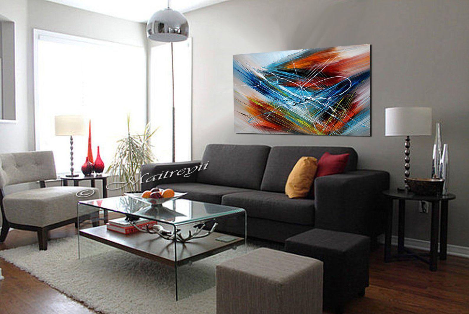 Oeuvre De Toile D Art Mur De Peinture à L Huile Abstraite