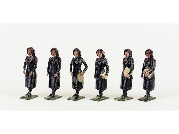 Six Britains Salvation Army Figures, comprising of three - Miller's Antiques & Collectables Price Guide