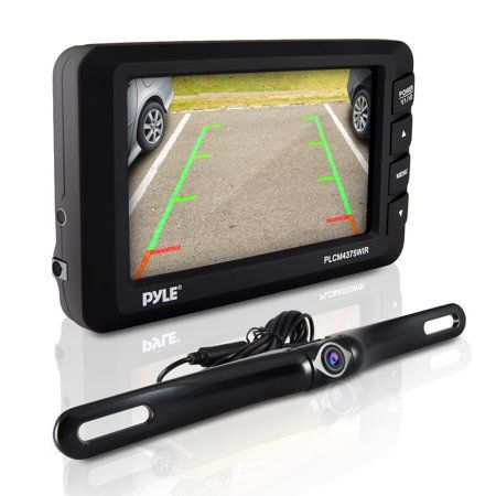 """4.3/"""" LCD Monitor Wireless Vehicle Backup Camera Rear View System Night Vision BE"""