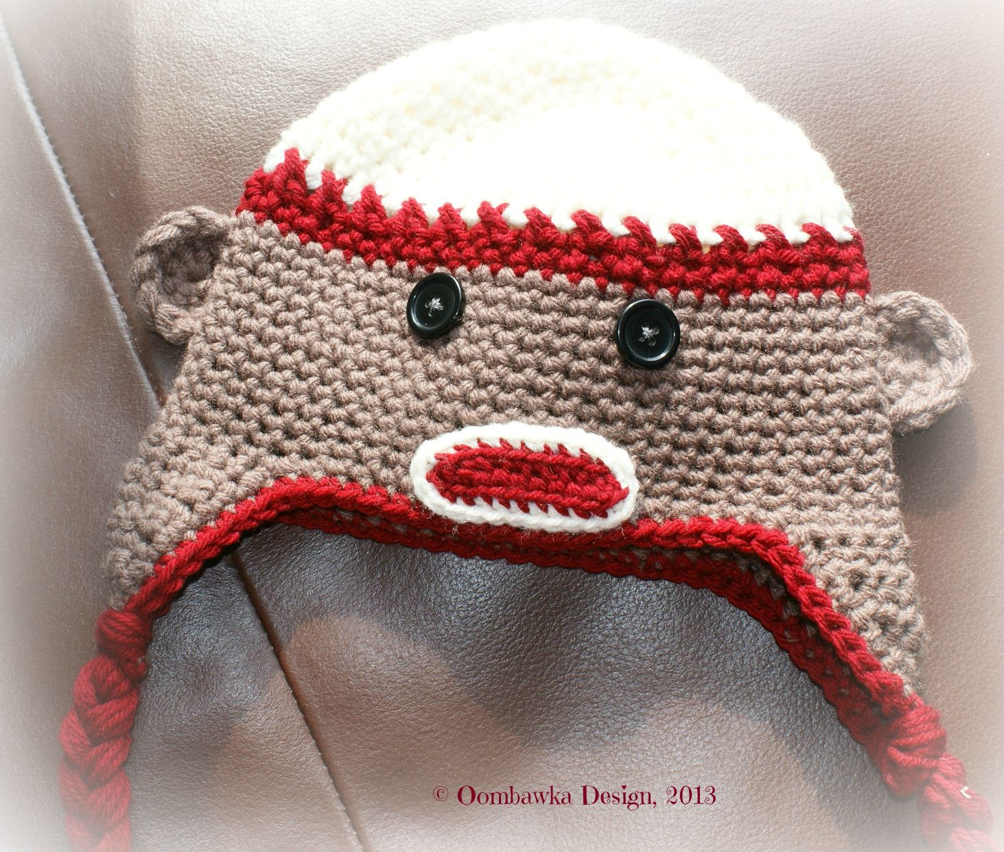 Not another sock monkey hat toddler size hook u some yarn