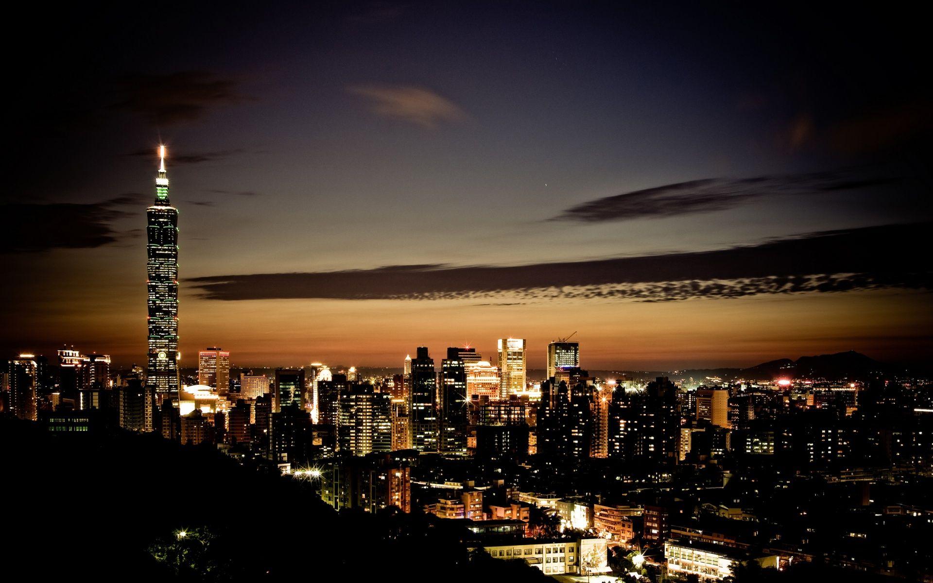 Taipei Skyline HD Desktop Wallpaper