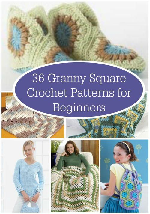 36 Granny Square Crochet Patterns For Beginners Granny Square