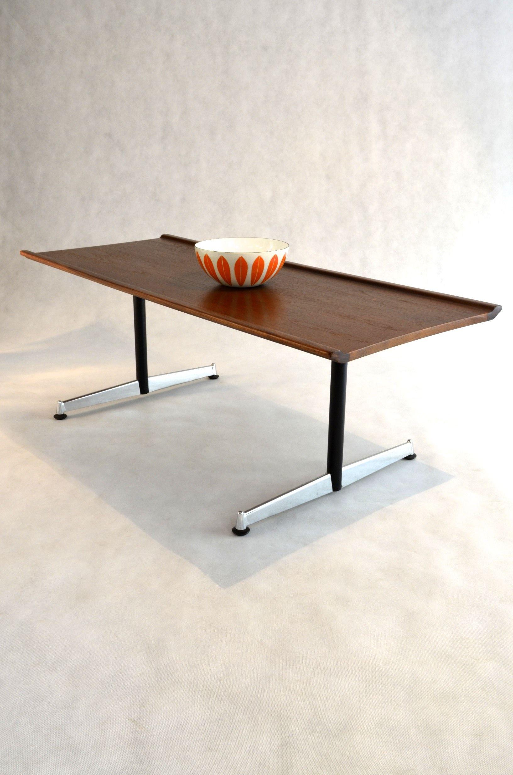 Sofa Table In Teak Chrome By Fler Australia 1960s