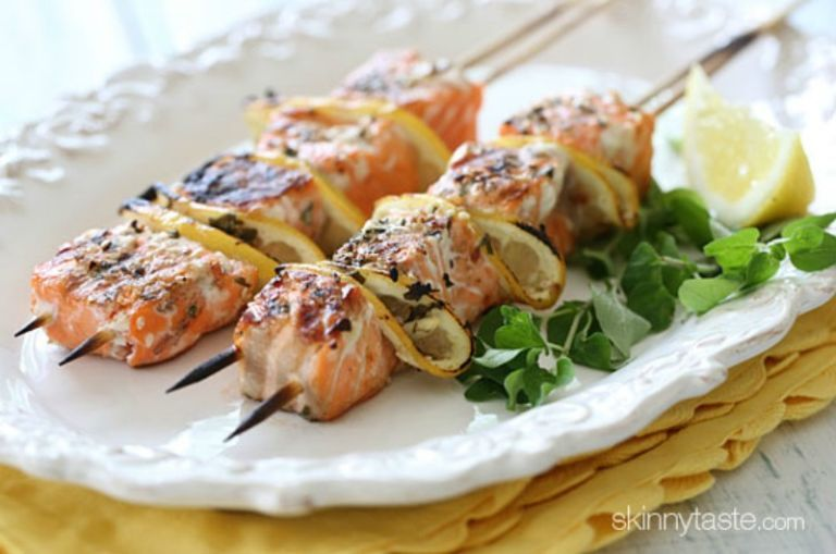 2. Grilled Salmon Kebabs
