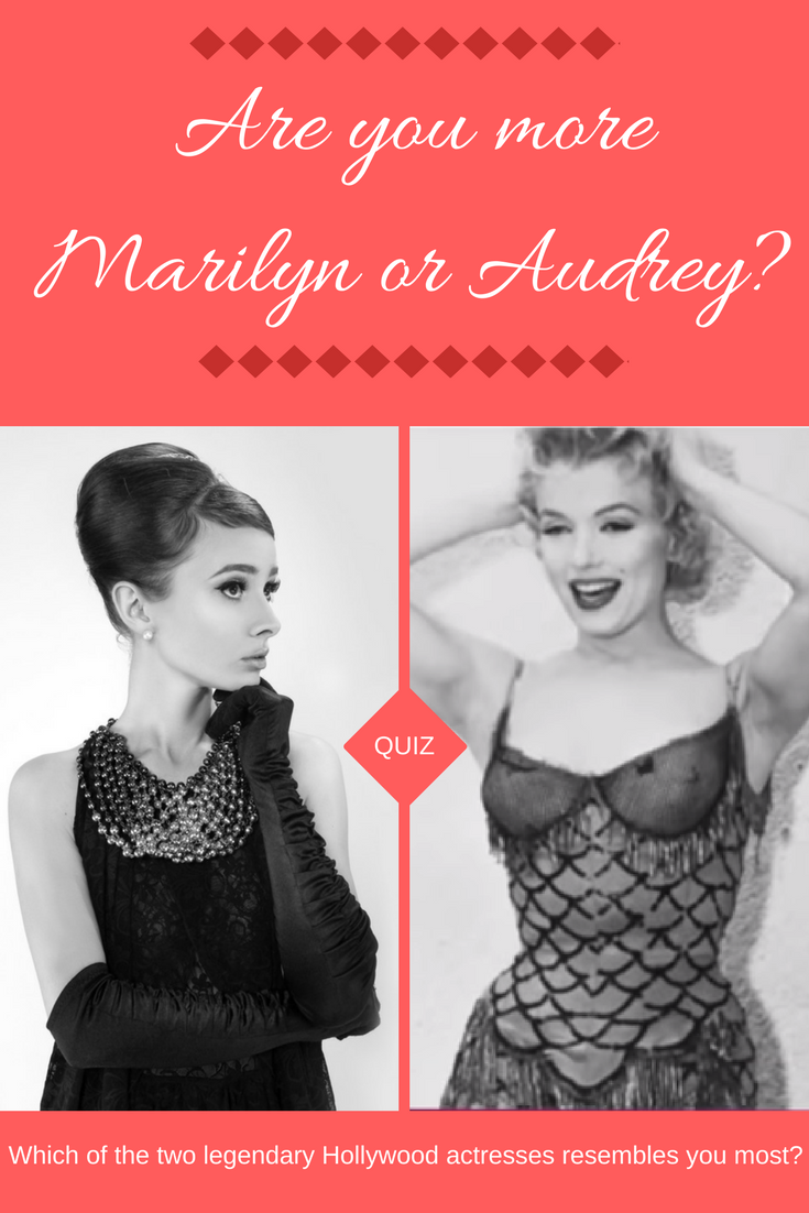 Are you more marilyn or audrey vintage pics pinterest golden