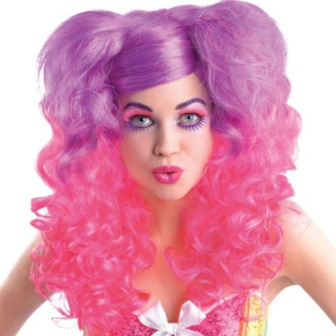 Pink And Purple Curly Wig Party City With Images Doll Fancy Dress Fancy Dress Womens Purple Wig