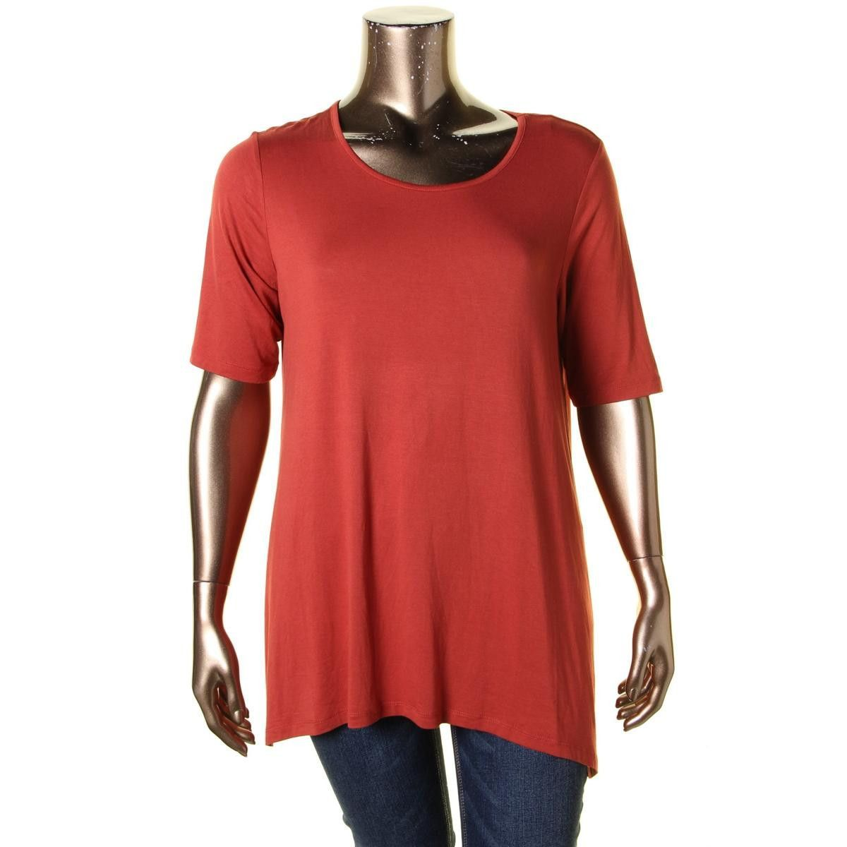 Womens HiLow Elbow Sleeves Tunic Top Products