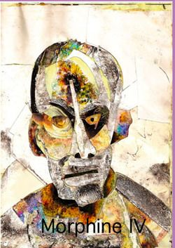 DRUGS by Bryan Lewis Saunders.  Each self portrait is drawn under the influence of different drugs taken daily. Within weeks of this experiment he became lethargic and suffered mild brain damage. He continues to work on this series but with much more time between doses.