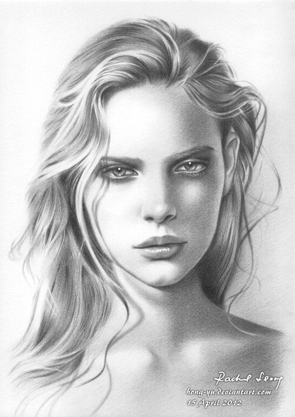 Marloes horst 1 by hong yu pencil drawings by leong hong yu
