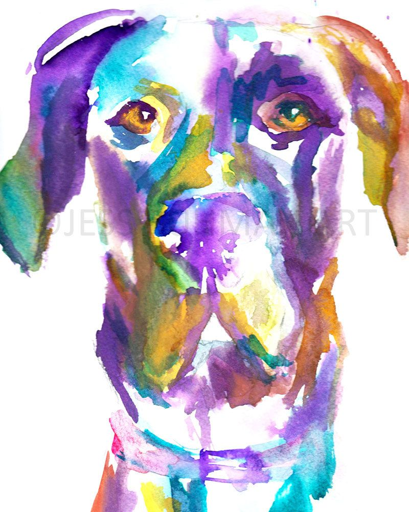 Great Dane Art Digital Download Toby The Great Dane By Jess