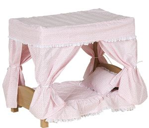 AllDollFurniture.com - Amish Doll Canopy Bed, $114.99 (http://alldollfurniture.com/products/amish-doll-canopy-bed.html)