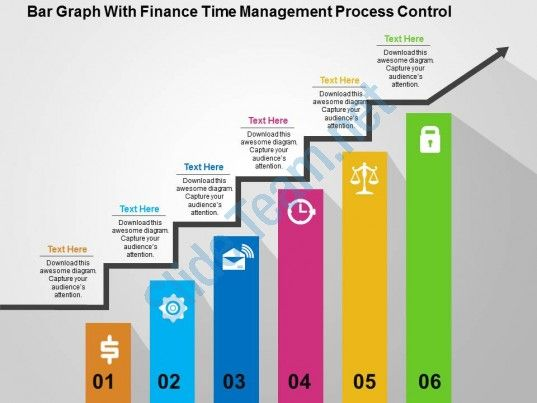 Bar Graph With Finance Time Management Process Control Flat ...