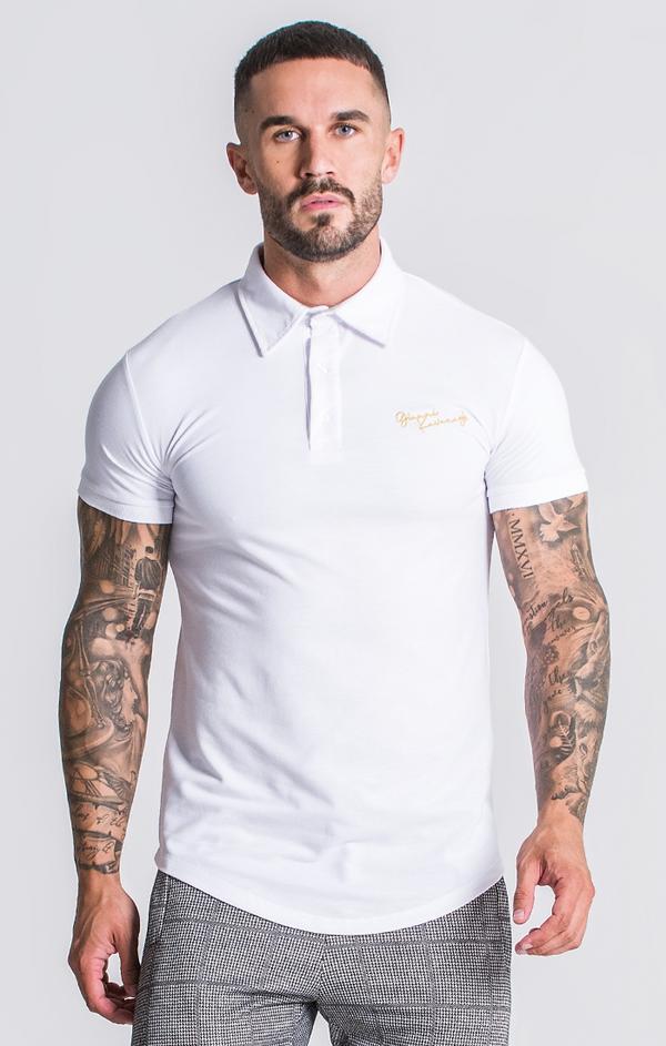 Polo Blanco Gianni Kavanagh con logo frontal Camisetas