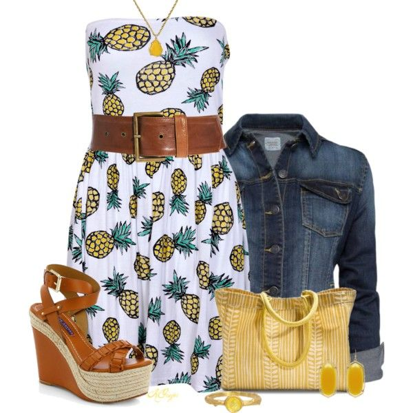 """""""Cute Pineapple Dress Contest 3"""" by kginger on Polyvore"""