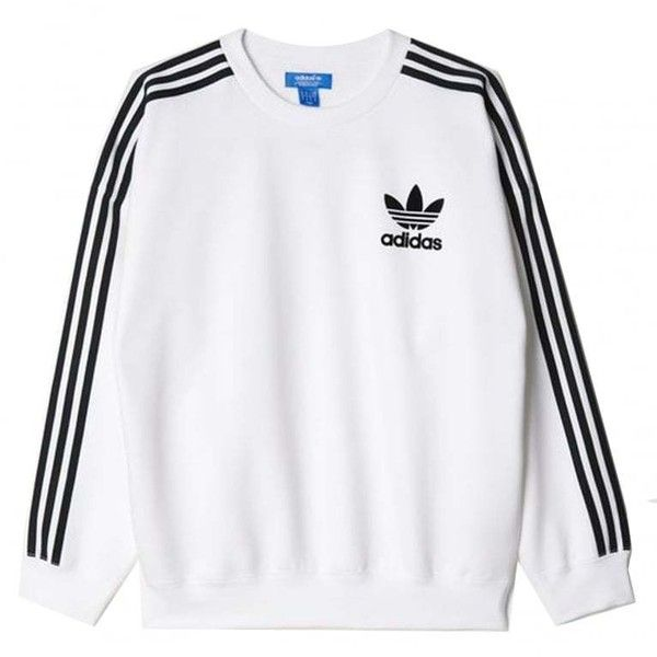 Adidas Originals Adicolor Fashion Crewneck Sweatshirt (195085 PYG) ❤ liked  on Polyvore featuring tops, hoodies, sweatshirts, shirts, crew-neck tops,  white ... fd99052603
