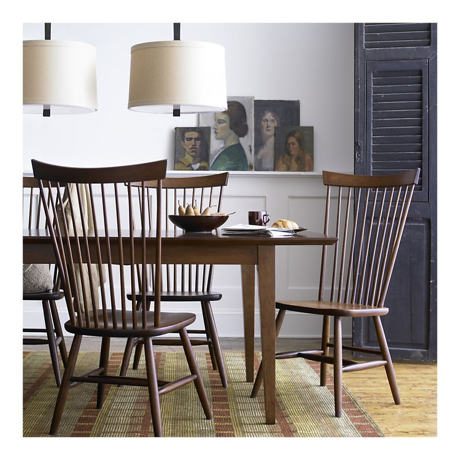 Windsor Chairs Form Crate And Barrel Marlow Ii 299 Stylish Dining Room Modern Dining Room Dining Chairs