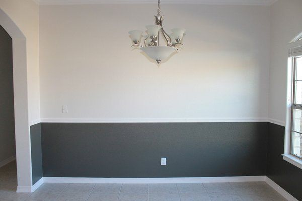 Dark Grey Lower Wall Chair Rail Google Search Dining Room Paint Colors Dining Room Colors Paint Colors For Living Room