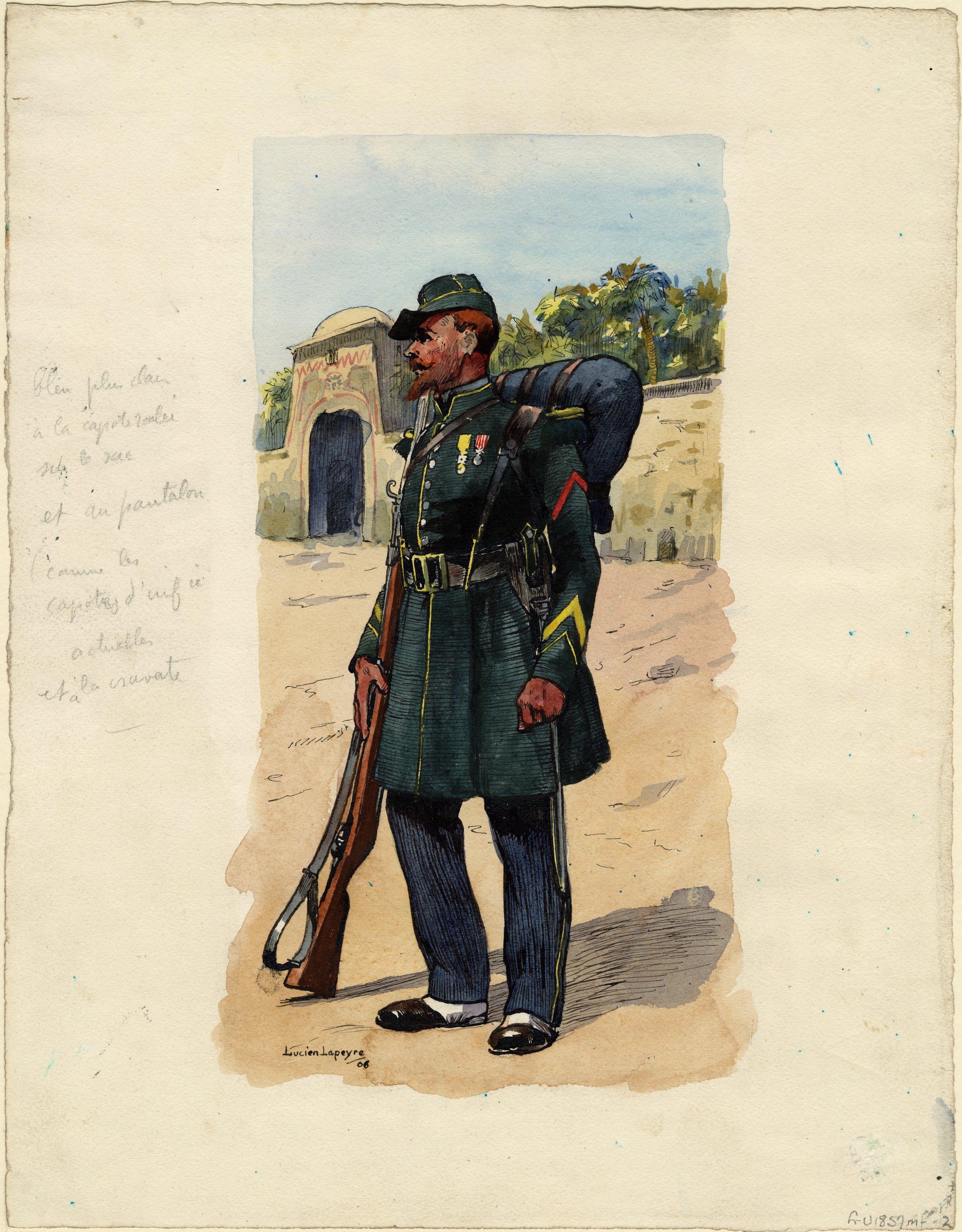 French 1st Regt Foreign Legion Tirailleur 1858 By Lucien Lapeyre French Foreign Legion Legion Etrangere Legion