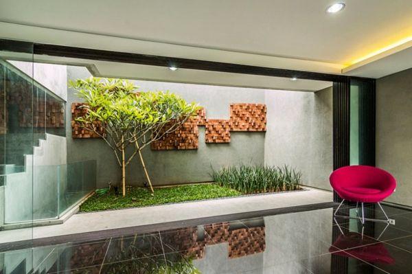 kasten-förmiges haus design architektur modern indoor garten