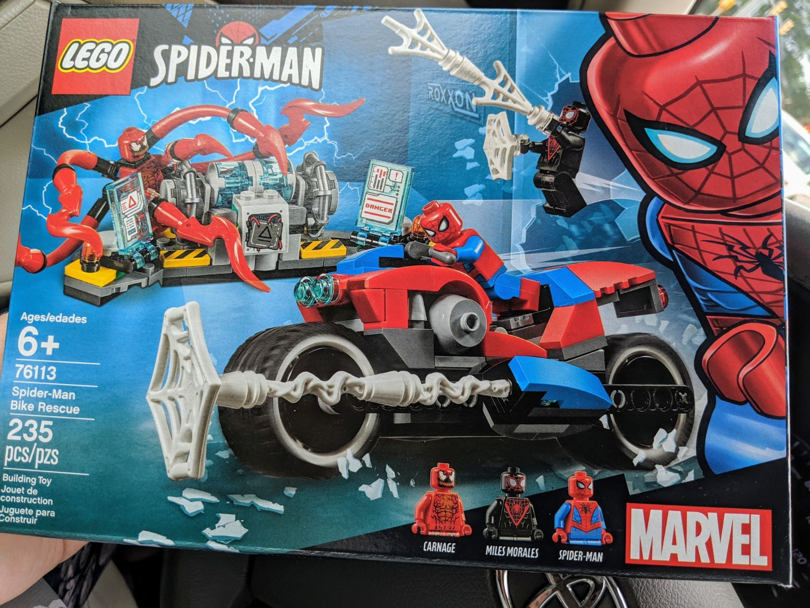 Lego Marvel Spider-Man Bike Rescue 235 pcs New Sealed