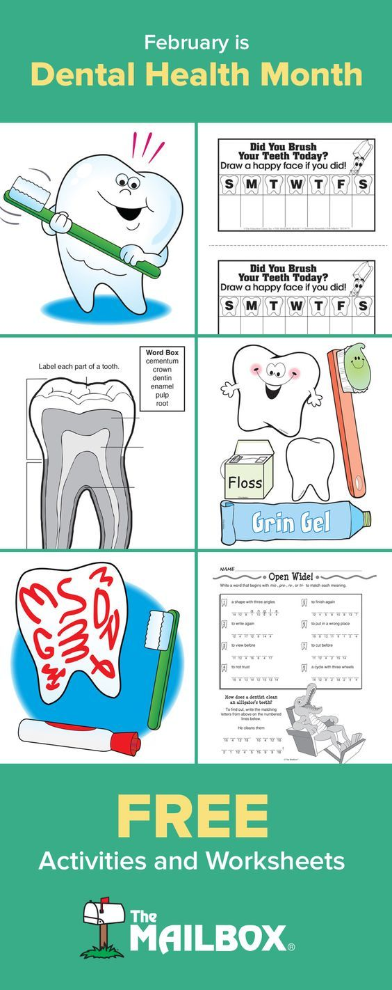 February is Dental Health Month! Check out these and