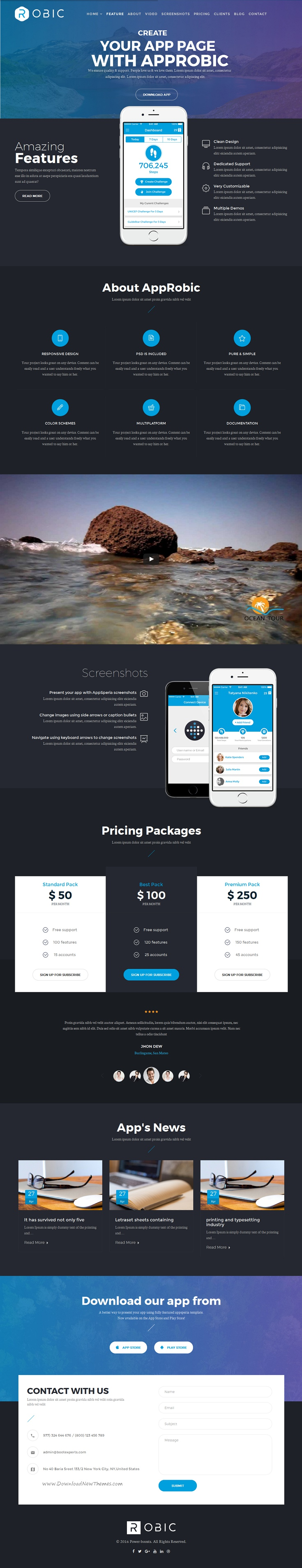 Robic is a responsive, clean and modern designed Multipurpose #Joomla Landing Page #Template download Now!