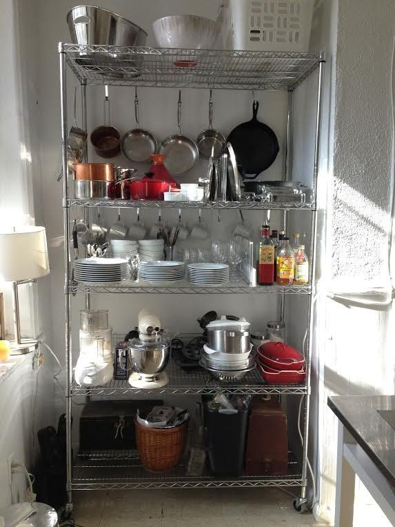 Industrial Post Shelving Baker S Rack Storables Glass Shelves