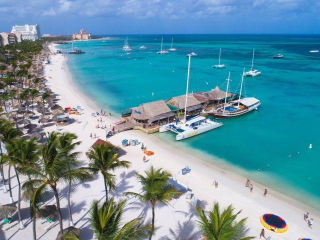 Pelican Pier In Palm Beach Aruba