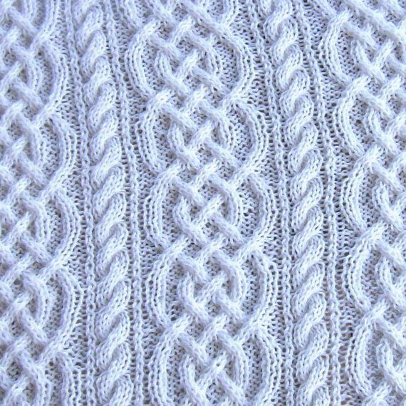 afghan pattern. Love the interlocking cables   knitting   Pinterest ...