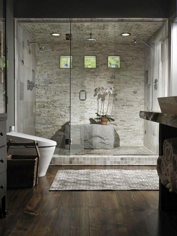 Piedra natural en baños | Cuartos de baño - Bathrooms | Pinterest ...