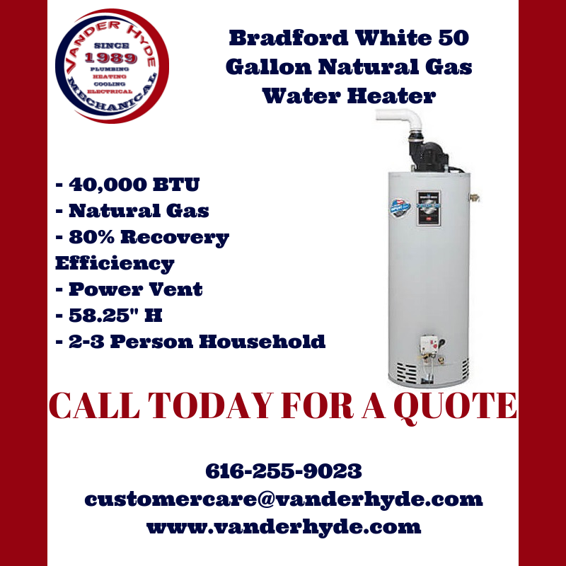 In Need Of A New Water Heater Give Vanderhyde A Call Featurefriday Friday Feature Vanderhyde Vanderhy Natural Gas Water Heater Water Heater Grand Rapids