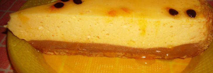Torta de maracujá com caminha de ganache