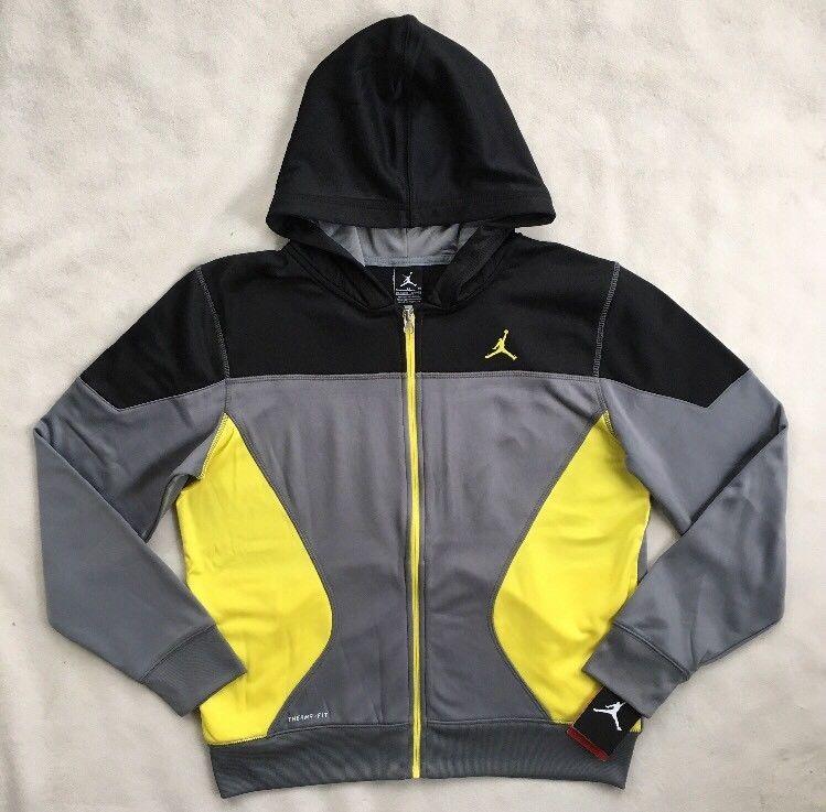 NIKE AIR JORDAN Boys Fleece Jogger Pants Sweatpants Blue NWT 955215 MEDIUM XL