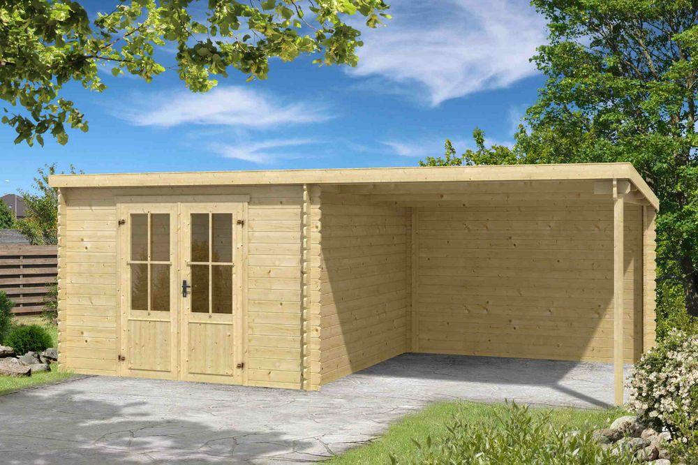 Details zu Gartenhaus ca. 600x300 cm Gerätehaus Blockhaus