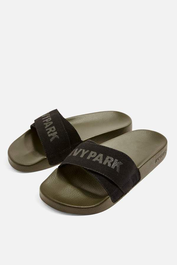 bc2f56ee2a4f4 Ivy Park Logo Tape Sliders Ivy Park Clothing