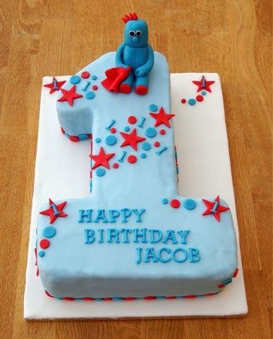 Julias Cupcakes Iggle Piggle 1st Birthday Cake Number Cakes Boys