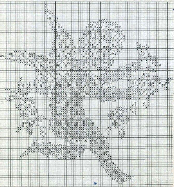 little angel filet crochet   Heklað í glugga   Heklað í glugga ...
