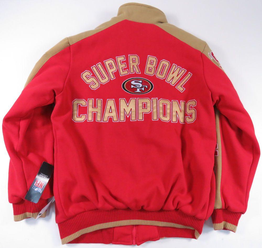 best website aec5a a0c64 SAN FRANCISCO 49ERS G-III CLASSIC SUPER BOWL CHAMPIONS FULL ...