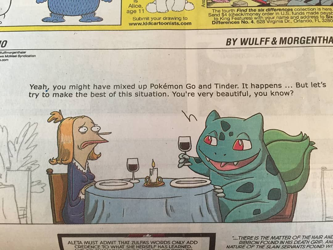 So.. Bulb appeared in a comic in one of Sunday newspapers