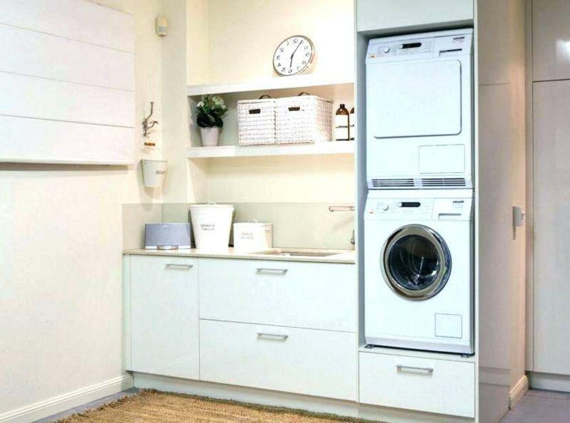 Schrank Für Waschmaschine Und Trockner übereinander