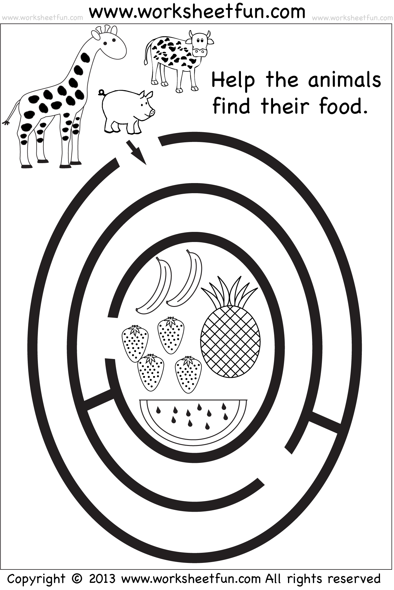 preschool maze | Preschool | Preschool worksheets, Maze, Mazes for ...